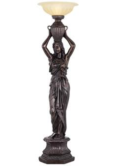 Caryatid Maiden Torchiere Floor Lamp