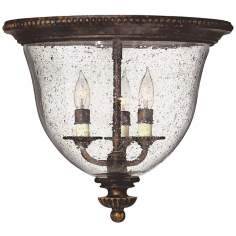 "Hinkley Rockford Bronze 14 1/2"" Wide Ceiling Light"