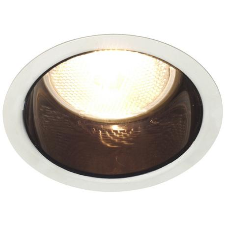 "Lightolier 4"" Line Voltage Black Alzak Recessed Light Trim"