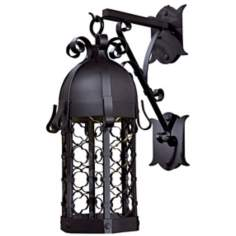 "Montalbo Dark Sky 32"" High Vintage Black Outdoor Wall Light"