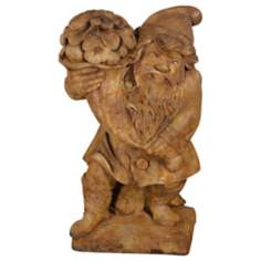 Henri Studios Gnome of Plenty Garden Accent Sculpture