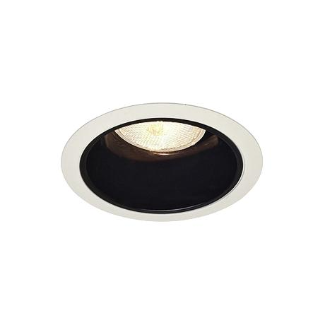 "Juno 4"" Line Voltage Black Alzak Recessed Light Trim"