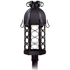 "Montalbo Dark Sky 28"" High Black Outdoor Post Light"