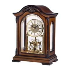 "Bulova Newtown 11 1/2"" High Mantel Chime Clock"