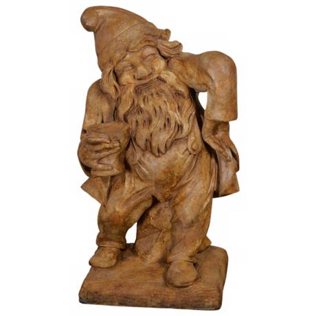 Henri Studios Garden Gnome of Merriment Accent Sculpture