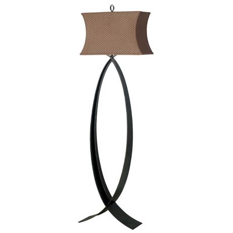 Pisces Bowed Cinnamon Shade Floor Lamp
