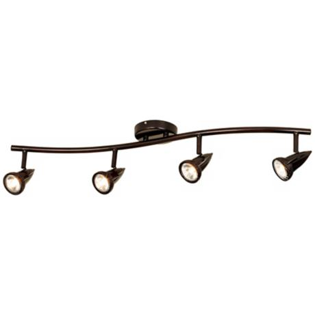LED Pro Track Bronze Finish 4-Light Wave Bar