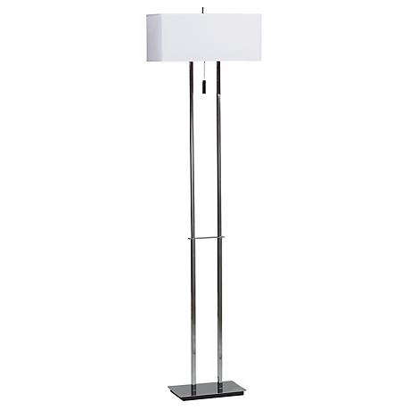 Emilio Double Tier Chrome Floor Lamp