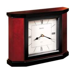 "Bulova Morrigon 10"" Wide Mantel Clock"