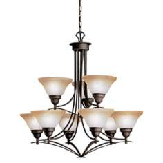 "Pomeroy Collection Black 32"" Wide 9-Light Large Chandelier"