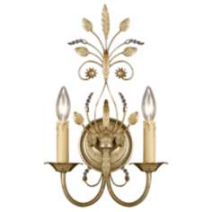 Parisian Two Light Gold Finish Wall Sconce
