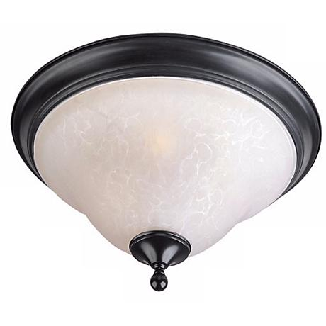 "Black and Ice 13"" Wide Ceiling Light Fixture"