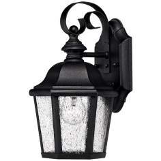 "Hinkley Edgewater Black 11"" High Outdoor Wall Light"