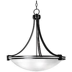 "Possini Euro Deco Bronze 24 1/4"" Wide Pendant Chandelier"