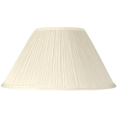 Mushroom Pleated Creme Lamp Shade 6x14x8 (Spider)