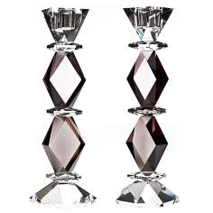 Set of 2 Godinger Ophelia Crystal Candlesticks