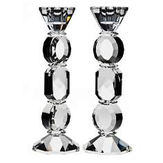 "Set of 2 Godinger 9 1/2"" Allegro Crystal Candlesticks"