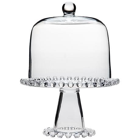 Godinger Chesterfield Domed Glass Cake Plate