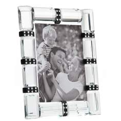 "Godinger Cherish 3""x5"" Banded Crystal Photo Frame"