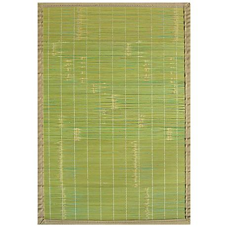Key West Bamboo AMB0070 Green Area Rug