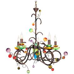 "Copa Cabana 29"" Wide Copper Black Chandelier"