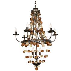 "Legacy Palace 36"" High Colden Ochre Chandelier"