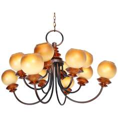 "Symphony 36"" Wide Copper Black Chandelier"