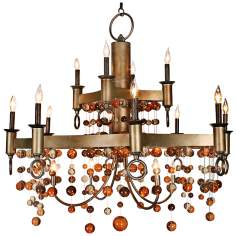 "Legacy Imperial Castle 46"" High Colden Chandelier"