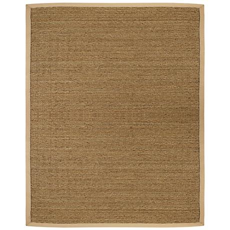Saddleback Seagrass AMB0117 Tan Indoor-Outdoor Rug