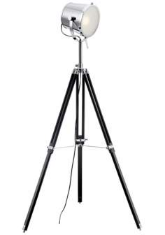 Lite Source Trey Tripod Director's Floor Lamp