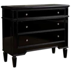 Berwyn Black Glass Console