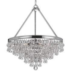 "Calypso 20"" Wide Crystal and Chrome Chandelier"