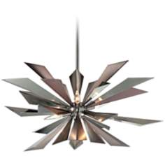"Galaxy 28 1/4"" Wide Midnight Chrome Mini Chandelier"
