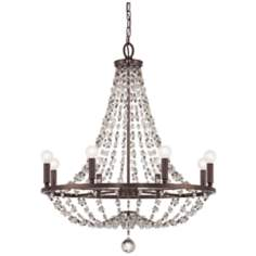 "Channing 28"" Wide Chocolate Bronze Chandelier"
