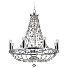 "Channing 28"" Wide Polished Chrome Chandelier"