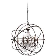 "Solaris 40"" Wide English Bronze Chandelier"