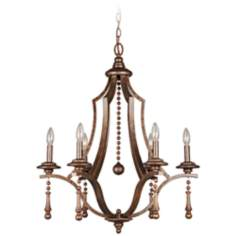 "Parson 26"" Wide English Bronze Chandelier"