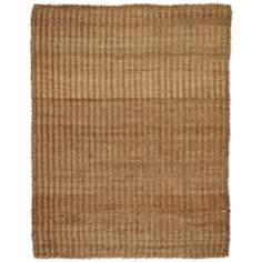 River Sand Jute & Hemp AMB0322 Tan Area Rug