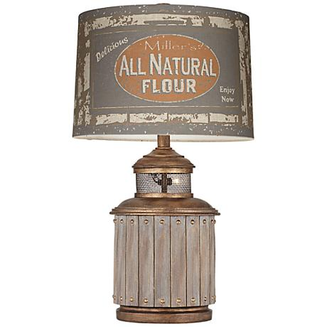 Americana Flour Mill Table Lamp