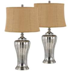 Set of 2 Sarasota Aged Glass Table Lamps
