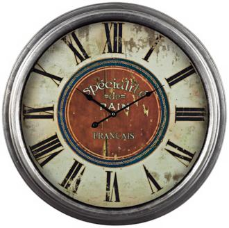"French Country Specialite 24"" Wide Cream Wall Clock (2C389)"