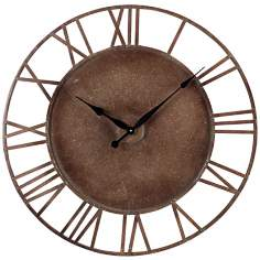 "Parity Bronze 32"" Wide Outdoor Wall Clock"
