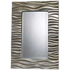 "Transcend 28"" High Rectangular Silver Wall Mirror"