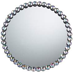 "Auburn 16"" Round Clear Wall Mirror"