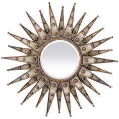 "Centauri Starburst 33"" Wide Bronze Wall Mirror"