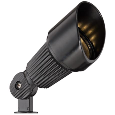 hooded low voltage black led landscape spotlight 2c502 lampsplus