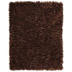 Kakao Paper Shag AMB0450 Dark Brown Area Rug