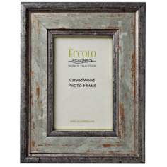Argento Carved Wood 5x7 Silver-Gray Photo Frame