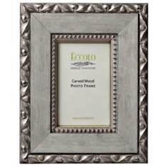 Giacomo Carved Wood 4x6 Gray Photo Frame