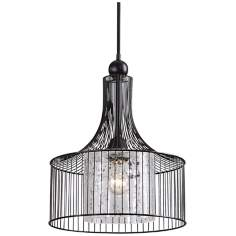 Carleton Cylinder Cage Pendant by Uttermost Lighting